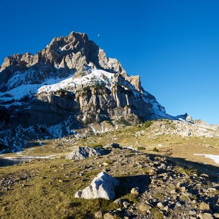 Telera Peak, Partacua Mountains, in Tena Valley, Aragon, Huesca, Spain. Stock Photo