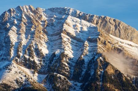 Pena Blanca Peak, Tendenera Mountains, in Tena Valley, Panticosa, Aragon, Huesca, Spain. Stock Photo