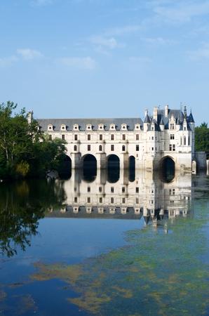 Chenonceau Castle, Loire Valley, France. Known as the castle of the ladies was built in 1513 by Katherine Briconnet, houses a collection of valuable paintings and striking good is one of the most visited in the Loire Valley.
