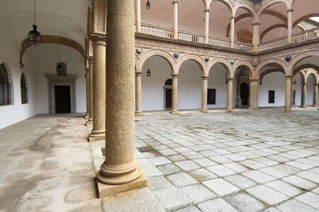 courtyard of the Hospital de Tavera, Toledo, Castilla La Mancha, Spain Editorial