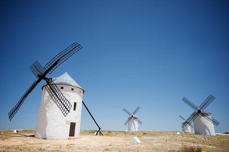castilla la mancha: Windmills in Campo de Criptana, Ciudad Real Province, Castilla La Mancha, Spain.