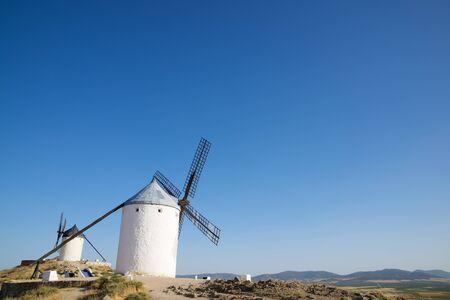 castilla la mancha: Windmills in Consuegra, Toledo Province, Castilla La Mancha, Spain.