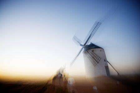 Molino de viento en Consuegra, Provincia de Toledo, Castilla La Mancha, España.
