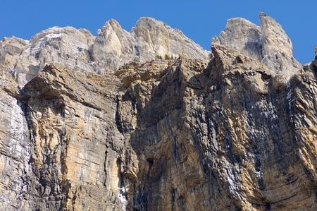 Fraucata wall, Ordesa National Park, Pyrenees, Huesca, Aragon, Spain Stock Photo