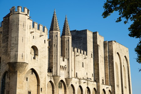 Popes Palace in Avignon, Provence, France. Editorial