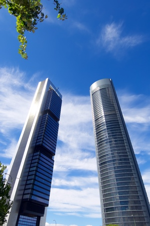modernity: Cuatro Torres Business Area next to the Paseo de la Castellana. Madrid, Spain.