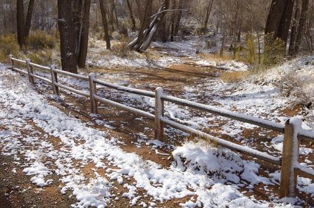 indian creek: Fence in Indian Creek, near Canyonlands in Utah, Usa.
