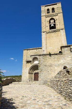 aragon: Romanesque church, Nuestra Senora de Baldos, Montanana, Huesca Province, Aragon in Spain.