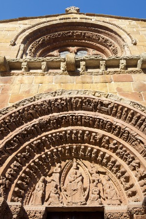 detail of the facade of the Santo Domingo church in Soria, Spain. Stock Photo