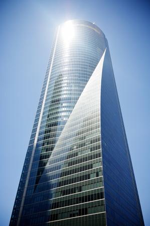Cuatro Torres Business Area next to the Paseo de la Castellana. Madrid, Spain.