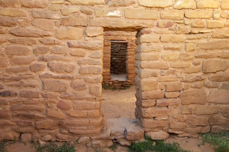 Building in Mesa Verde National Park, Colorado in United States. Stock Photo