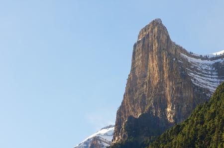 スペイン、アラゴン州ウエスカ、ピレネー山脈オルデサ国立公園 Tozal ・ デル ・ Mallo 写真素材