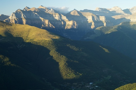 buttresses: Rocky buttresses in Ordesa National Park, Pyrenees, Huesca, Aragon, Spain