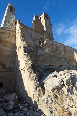 zaragoza: Roden village destroyed in a bombing during the Spanish Civil War, Saragossa, Aragon, Spain Stock Photo