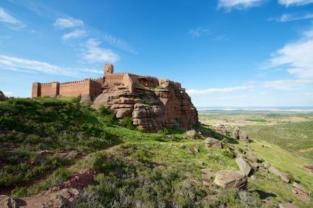 Peracense Castle, X-XI centuries, in Teruel province, Aragon, Spain Editorial