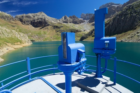 Ip Reservoir, Canfranc Valley in Pyrenees, Huesca Province in Spain. Stock Photo
