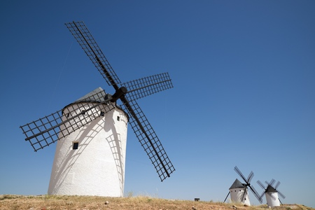 mancha: Windmills in Alcazar de San Juan, Ciudad Real Province, Castilla La Mancha, Spain.