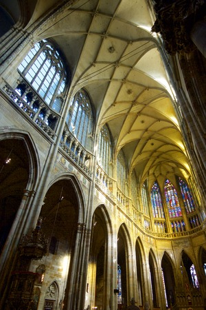 Saint Vitus Cathedral in Prague, Czech Republic. Editorial