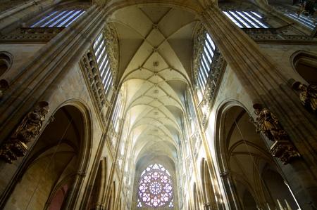 Saint Vitus Cathedral in Prague, Czech Republic. Redakční