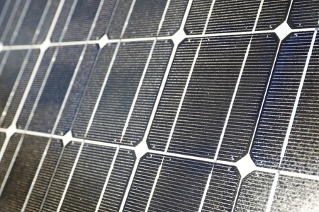 Detail of a photovoltaic panel for renewable electric production. Фото со стока