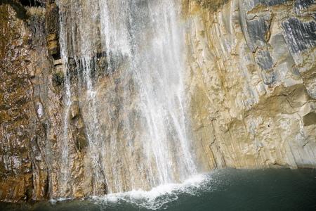 Sorrosal Waterfall in Broto, Pyrenees, Huesca Province, Aragon, Spain.