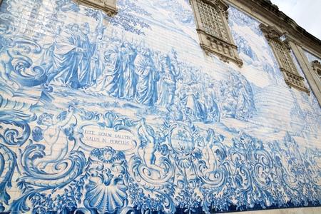 Ceramic wall in Porto, Portugal.