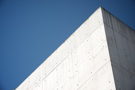 Close-up of a modern concrete building in Spain.