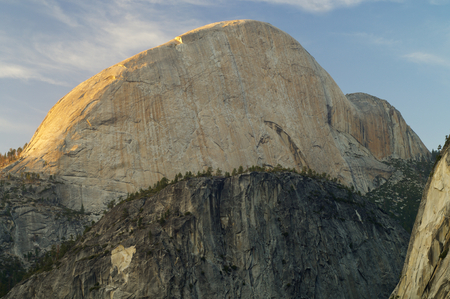 Half Dome in Yosemite National Park, California, United States. Stock Photo