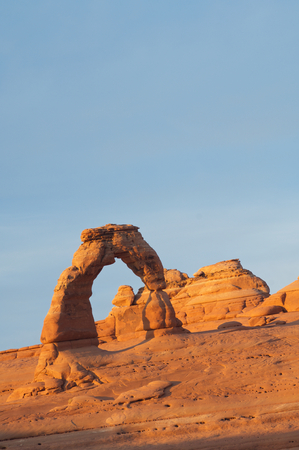 Delicate Arch in Arches National Park, Utah, United States. Stock Photo