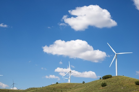 Windmills for electric power production, Soria Province, Castilla Leon, Spain.