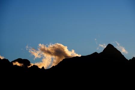 Peaks in Tena Valley, Pyrenees, Spain. Standard-Bild - 124235359