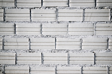 Background created with a white brick wall. Stock Photo