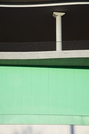 Close-up of a modern concrete building in Spain. Standard-Bild - 124235378
