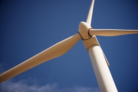 Mulino a vento per produzione di energia elettrica, provincia di Saragozza, Aragona, Spagna.