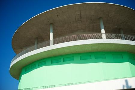 Close-up of a modern concrete building in Spain. Standard-Bild - 124235394