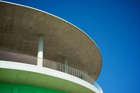 Close-up of a modern concrete building in Spain. Standard-Bild - 124235399