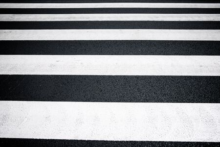 Zebra crossing without anyone crossing it. Stok Fotoğraf