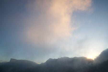 Peaks in Oza Valley, Pyrenees, Spain. 版權商用圖片 - 124752809