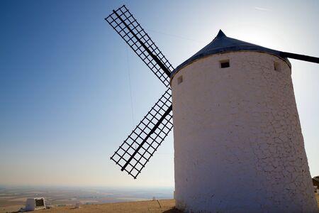 Windmill in Consuegra, Toledo Province, Castilla La Mancha, Spain. Imagens