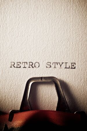 The words, retro style, written with a typewriter.