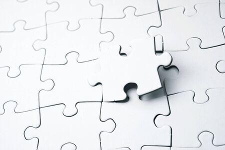 Gros plan des pièces d'un puzzle Banque d'images