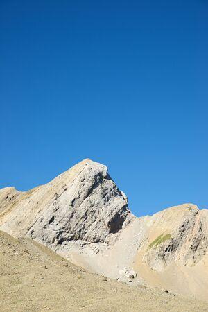 Peaks in Gavarnie Valley, Pyrenees in France.