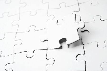 Nahaufnahme der Puzzleteile Standard-Bild