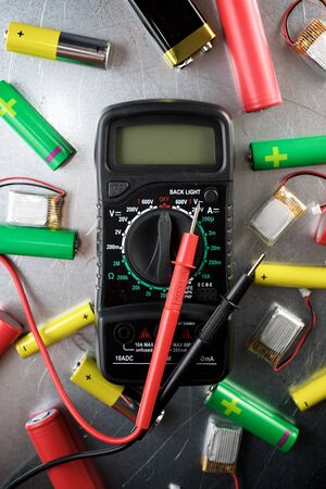 Electric measuring device and rechargeable batteries.