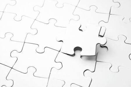 Gros plan des pièces d'un puzzle
