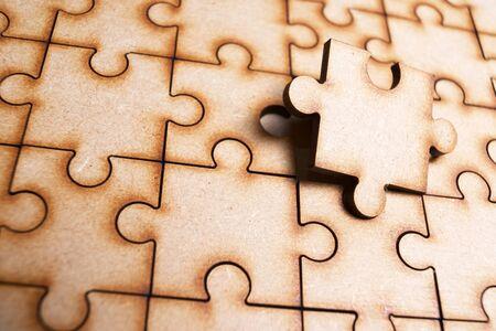 Gros plan des pièces d'un puzzle.