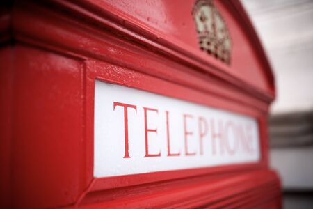 Detail of a telephone booth in London. Stockfoto