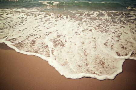 Olas en el mar Mediterráneo, España. Foto de archivo