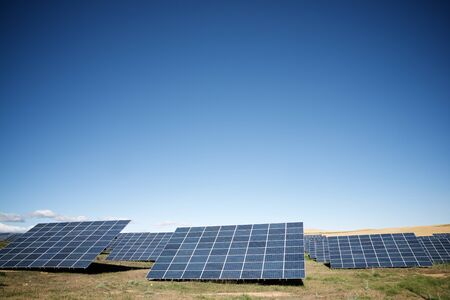 Huge solar panels for electric production in Navarra, Spain.
