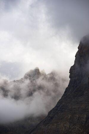 Peak in Canfranc Valley, Pyrenees, Spain. Imagens